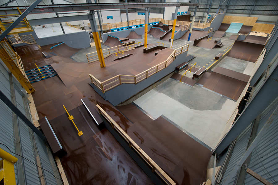 Transformation: Shed Skatepark into a high-performance facility
